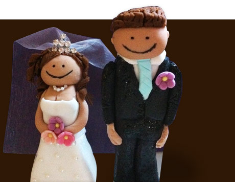 Wedding cake figurines, custom design