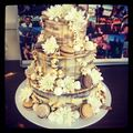 Engagement cake covered in sweetness