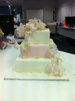 Pink and Pretty Wedding Cake